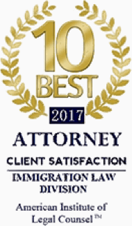 10 Best Attorneys - Immigration Division - 2017